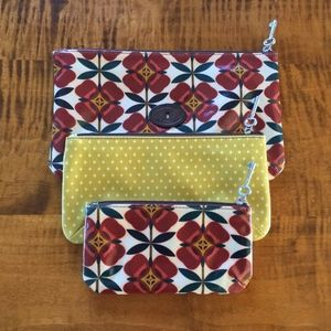 Fossil - Key Per - Pouch Trio - Coated Canvas